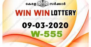 Kerala Lottery Results:09-03-2020 Win Win W-555 Lottery Result