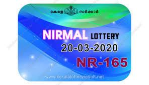 Kerala Lottery Results: 20-03-2020 Nirmal NR-165 Lottery Result