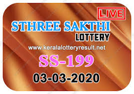 Kerala Lottery Results: 03-03-2020 Sthree Sakthi SS-199 Lottery Result