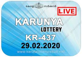 Kerala Lottery Results: 29-02-2020 Karunya KR-437 Lottery Result