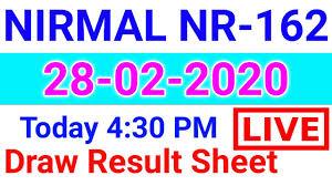 Kerala Lottery Results: 28-02-2020 Nirmal NR-162 Lottery Result