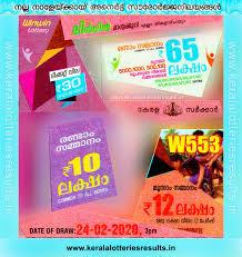 Kerala Lottery Results:24-02-2020 Win Win W-553 Lottery Result
