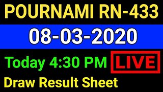 Kerala Lottery Results: 08-03-2020 Pournami RN-433 Lottery Result